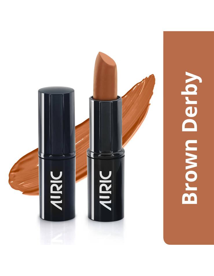 Auric MoistureLock Lipstick, Brown Derby