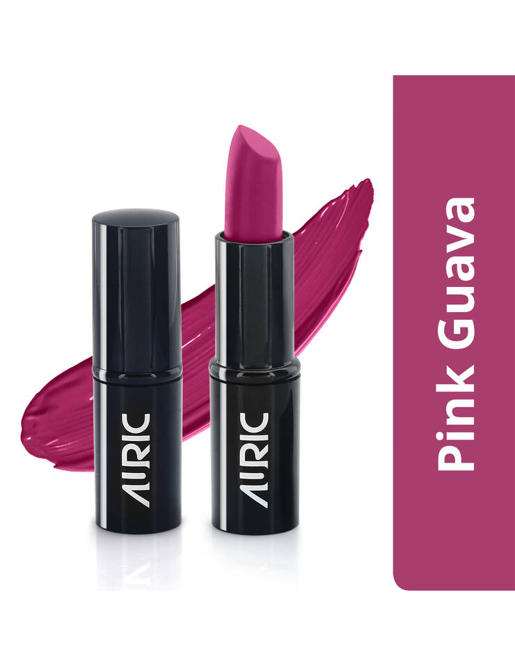 Auric MoistureLock Lipstick, Pink Guava